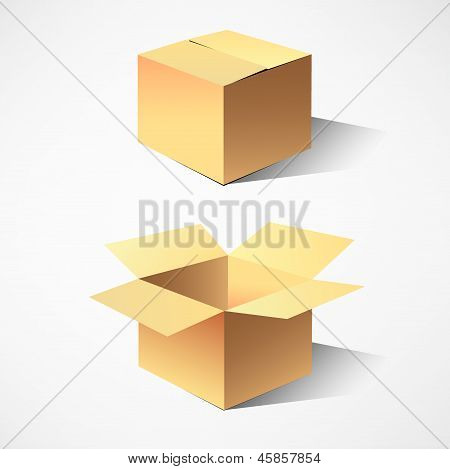 cardboard boxes. vector illustration