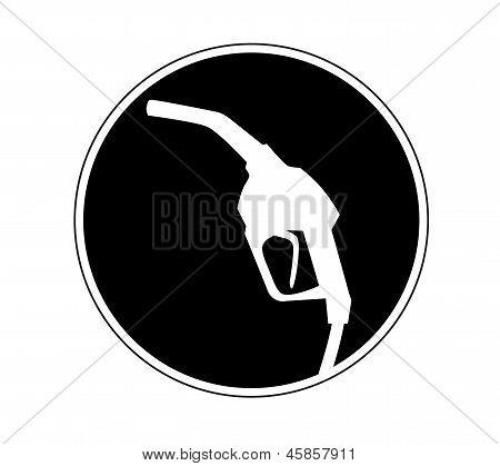 gas pump nozzle icon. Vector illustration.
