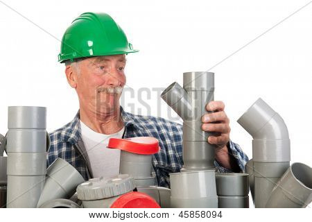 Plumber confused by assortment pvc tubes