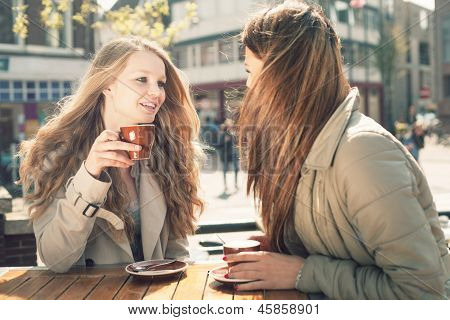 Two Women In A Cafe