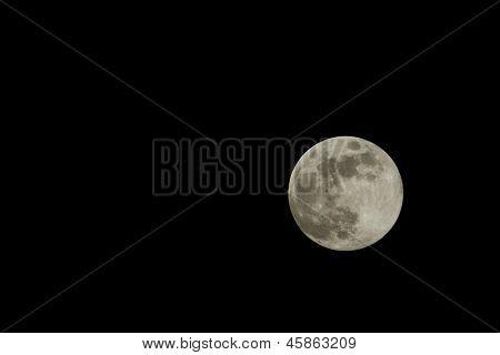A full moon fall night