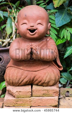 Doll Clay Monk Used In Thailand