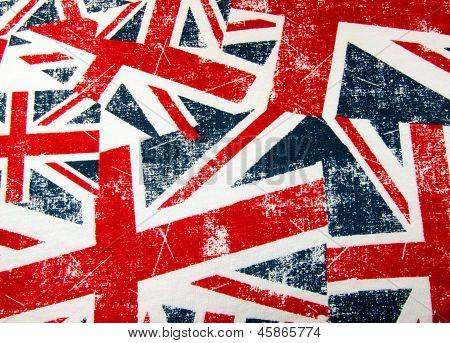 Union jack flag montage background