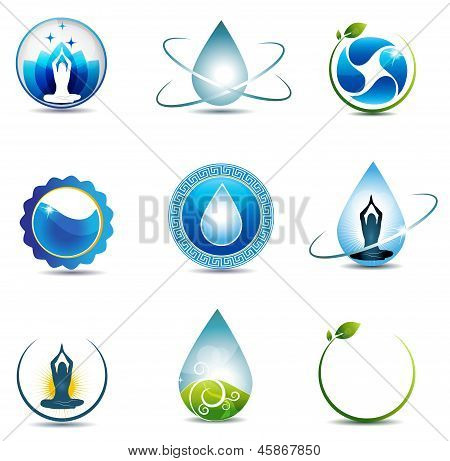 Nature and health care symbols