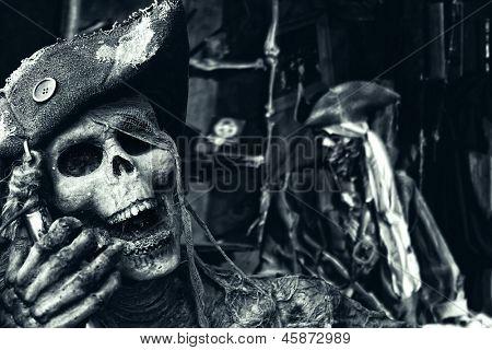 Two Skeleton Pirates Portrait