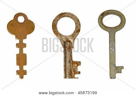 Three Old Rusty Keys.