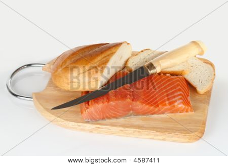Salmon, Bread And Finnish Fillet Knife