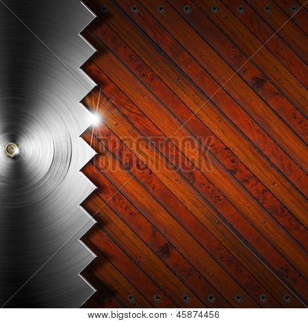 Fundo de madeira e metálico - conceito de carpintaria