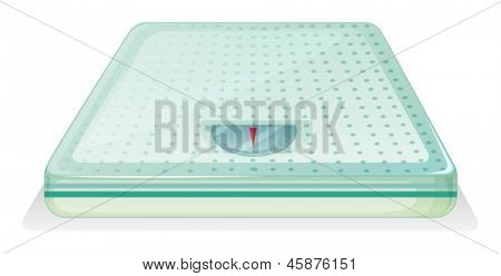 Illustration of a weighing scale on a white background