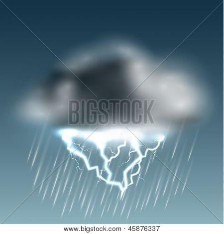 Thunderstorm icon - eps10