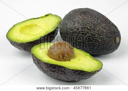 avocado on the white background