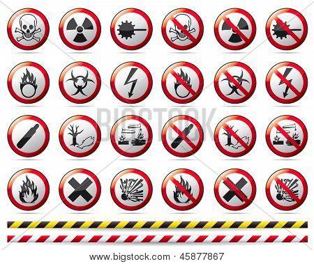 Prohibition Danger sign