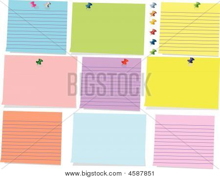 Colorful sticky_ Note