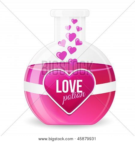 Love Potion Vector Illustration