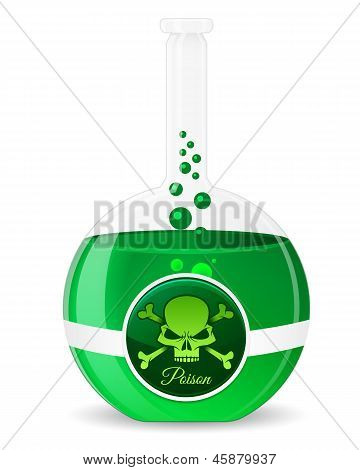 Poison Potion Vector Illustration