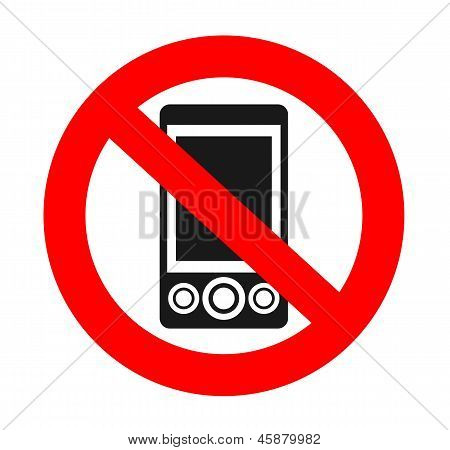 without phones sign.eps