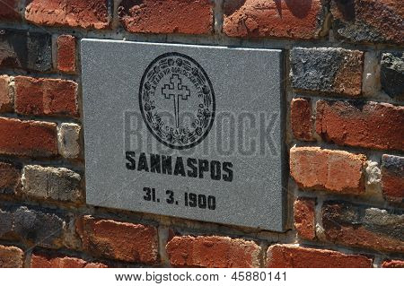 Commemorative�plaque At Sannaspos