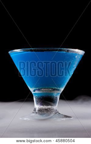 Brigh Blue Cocktail