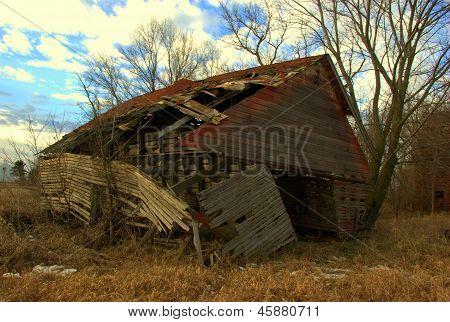 Dilapidated Corn Bin