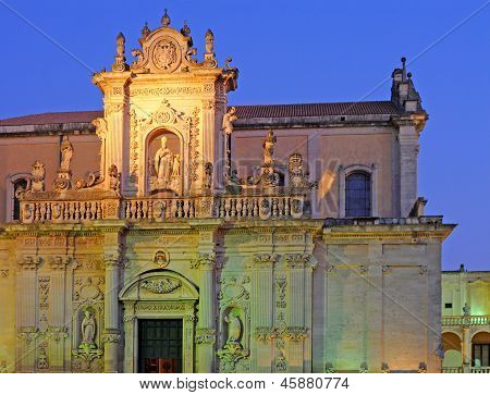 Duomo at night, Lecce