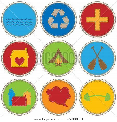 Boy Themed Merit Badges