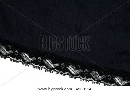 Closeup Of Black Lace
