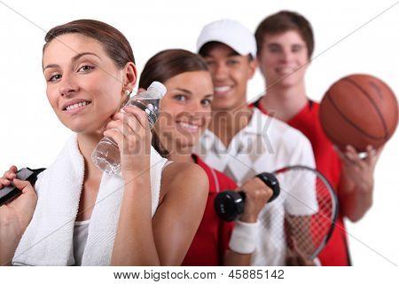 Постер, плакат: Различные виды физической деятельности, холст на подрамнике
