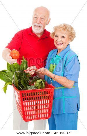 Seniors With Organic Produce
