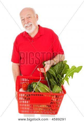 Handsome Senior Grocery Shopper