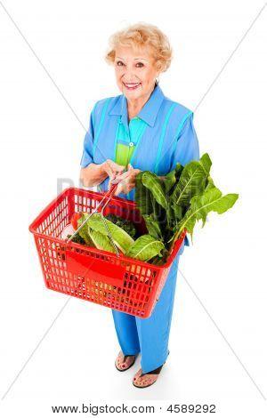 Saudável Senior Lady Shopper