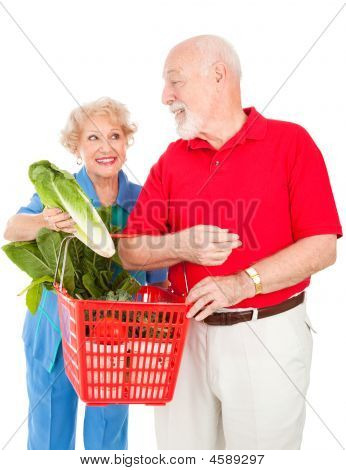 Senior Couple Food Shopping