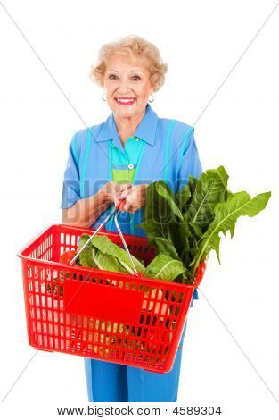 Senior Lady Grocery Shopping