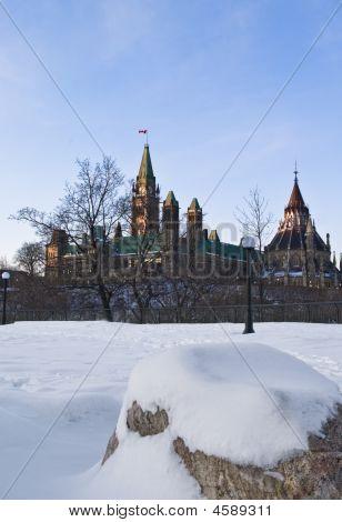 Behind Parliament