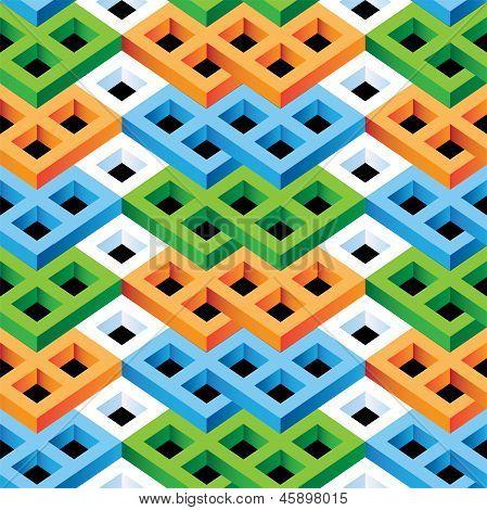 Optical Illusion Seamless Pattern