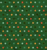 Polka Dot Pattern On Green Background poster