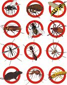 stock photo of flea  - warning sign - JPG