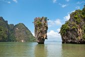 stock photo of james bond island  - James Bond island in province Phang Nga Thailand - JPG