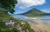stock photo of gunung  - Gunung Api active volcano Banda islands Indonesia - JPG