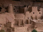 picture of pueblo  - The cliff dwellings at Colorado - JPG