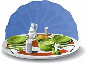 pic of salt shaker  - Vector illustration of a table set for two - JPG