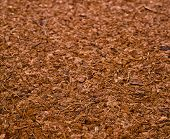 stock photo of coir  - One Block of Coconut Coir Husk Fiber Chips surface texture background - JPG