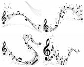 stock photo of g clef  - Musical note staff set - JPG