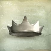 stock photo of emperor  - Silver crown - JPG