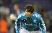 BARCELONA - MAY, 11: Kaka of Real Madrid before the Spanish League match between Espanyol and Real M