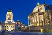 The Gendarmenmarkt at night