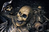 picture of plunder  - Three Skeleton Pirates Portrait - JPG