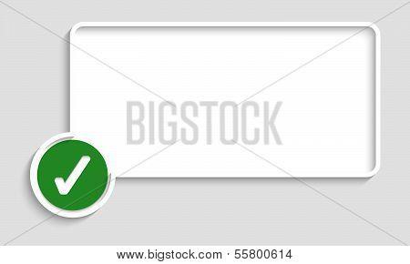 Abstract Vector Text Box