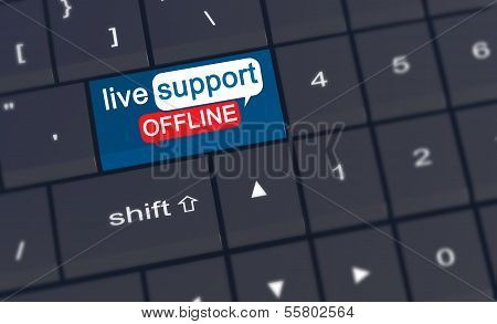 Live Support Offline Enter Key