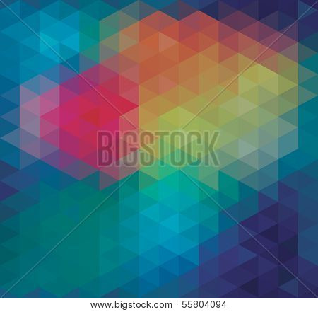 Geometric Triangle Neon Seamless background pattern vector