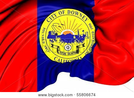 Flag Of Downey, Usa.